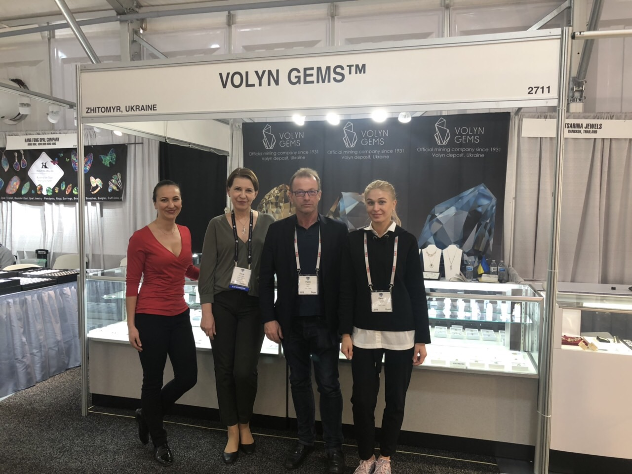 The success of the Volyn minerals at mineralogical exhibitions in the United States.