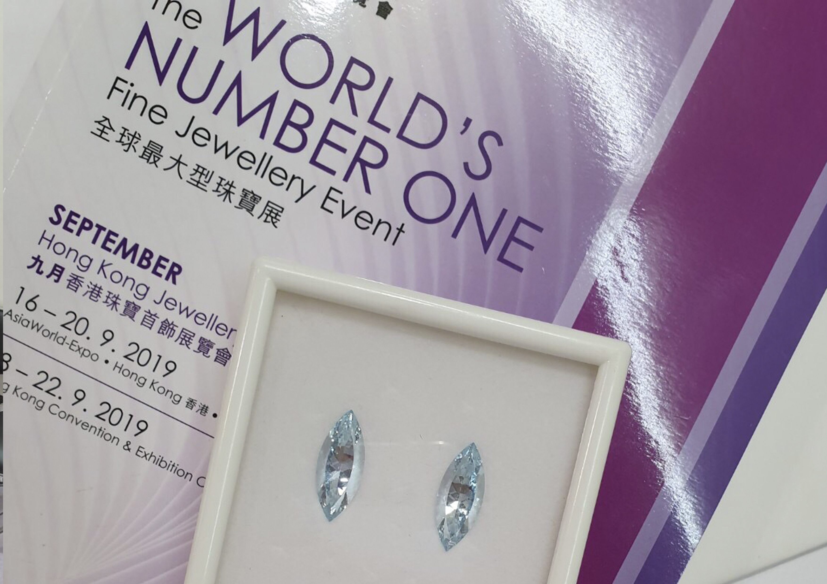There are some results of the participation in the Hong Kong Jewellery & Gem Fair exhibition